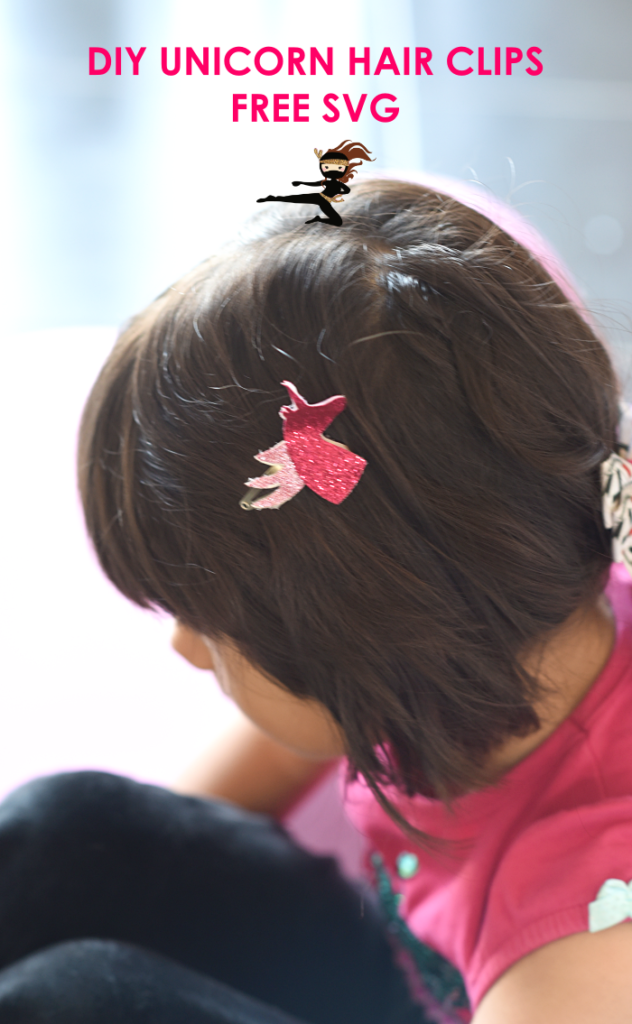DIY unicorn hair clips with FREE SVG - Quick and easy beginner Cricut project