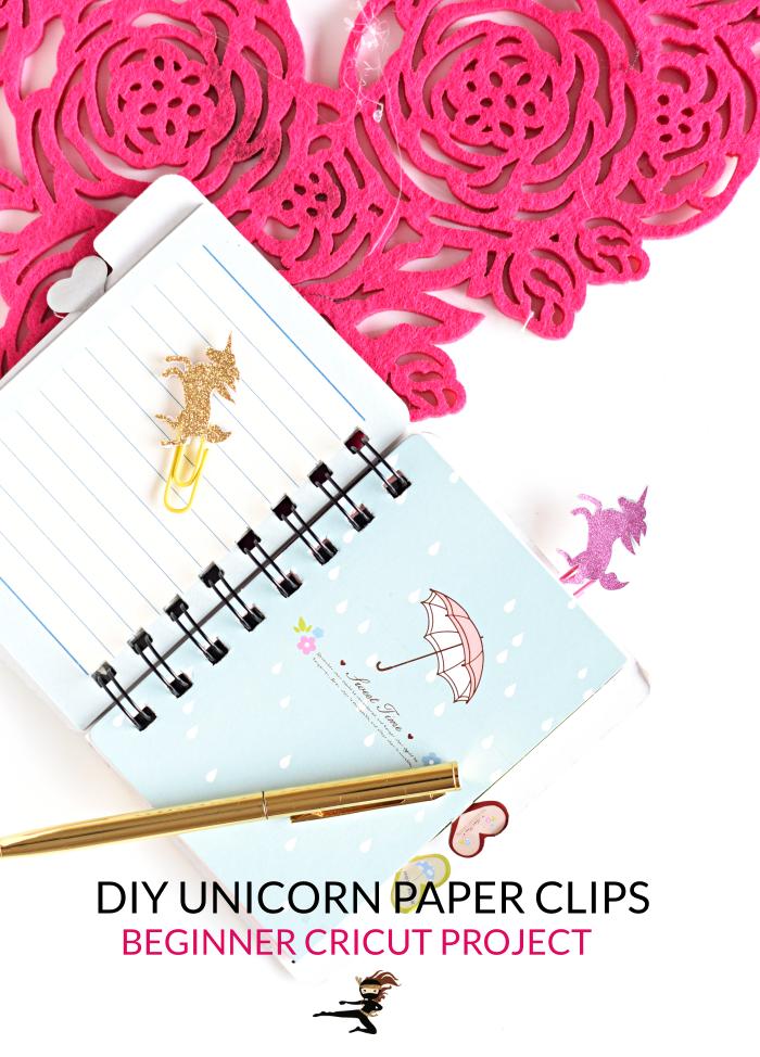 DIY Unicorn Paper Clips- Beginner Cricut Project