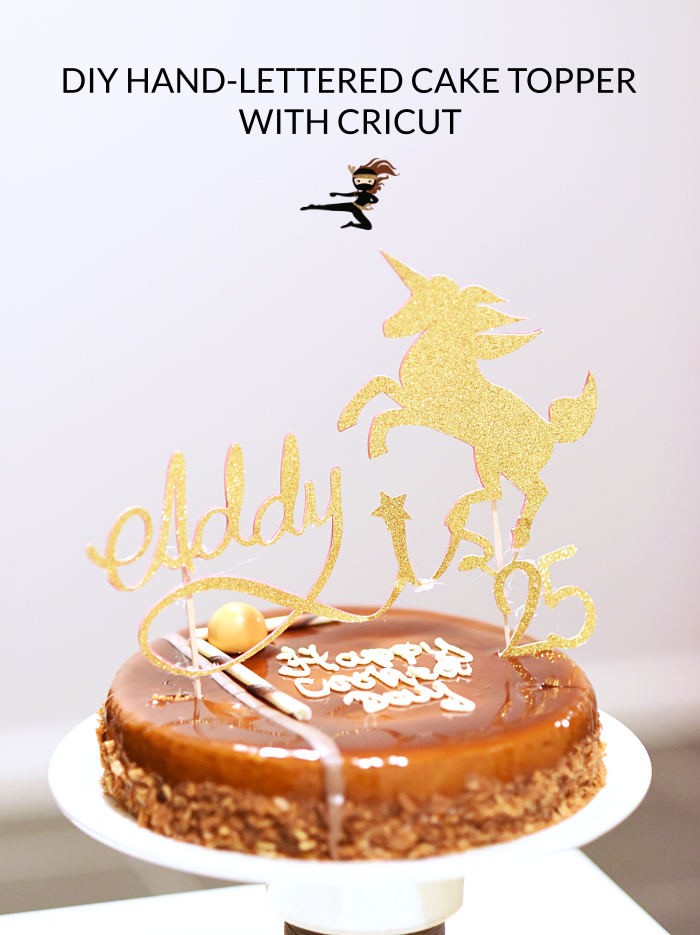 In this post, I'm sharing how to make a custom hand-lettered cake topper using your phone, the free app Adobe Sketch, the free software Inkscape and your Cricut.