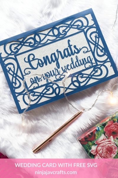 DIY wedding card with free svg, wedding themed free svgs for cricut 2
