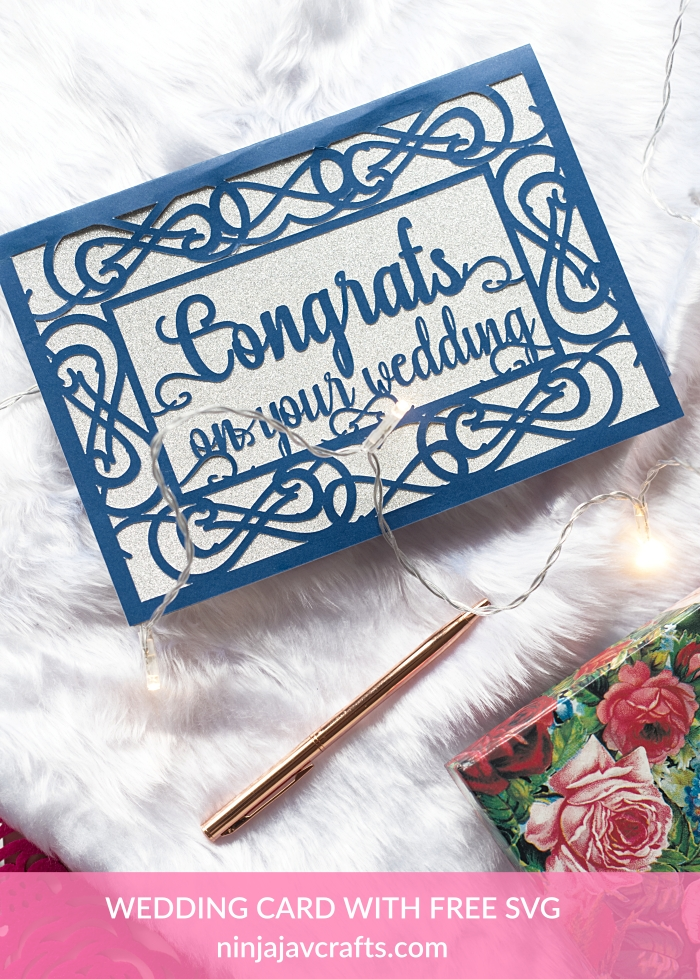 DIY wedding card with free svg, wedding themed free svgs for cricut In this post, I'm sharing a FREE Wedding Card SVG File + Tutorial. This FREE Wedding Card SVG file can be cut using any of the Cricut machines. A beginner friendly super quick Cricut project.