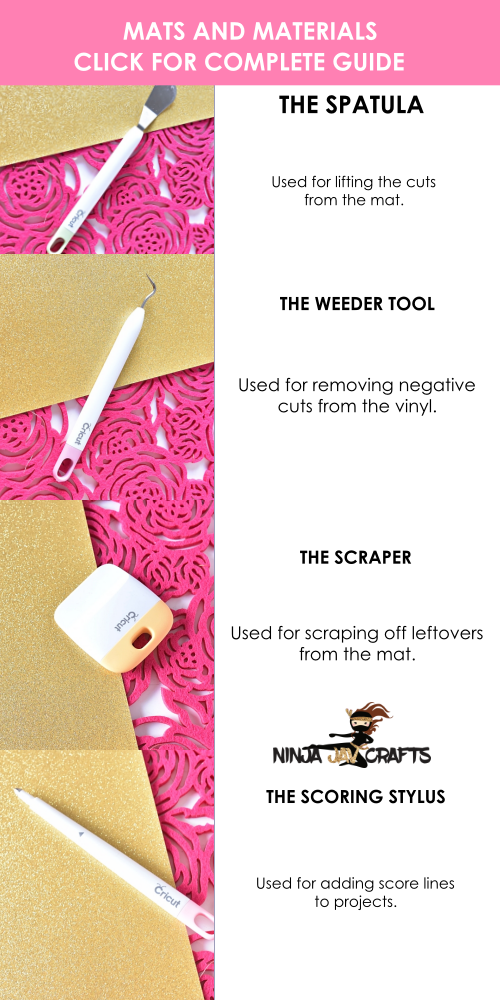 In this post, you'll learn everything you need to know about the essential Cricut Tools. Find out what all tools you will need when starting out and what's the function of each of the tools.