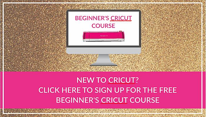 beginner's cricut course. learn cricut basics.