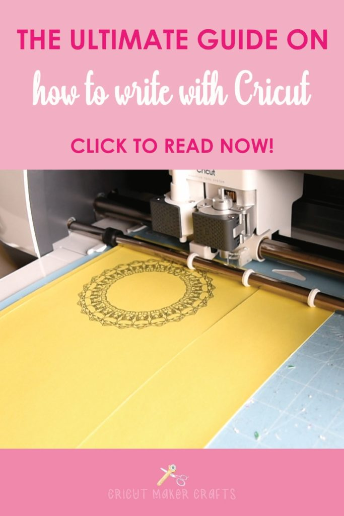 In this post, I'm showing you how to write with Cricut. I'll also share the steps to find the perfect Cricut writing fonts for your projects. We're going to learn how to use the Cricut pen and create a simple mandala card.