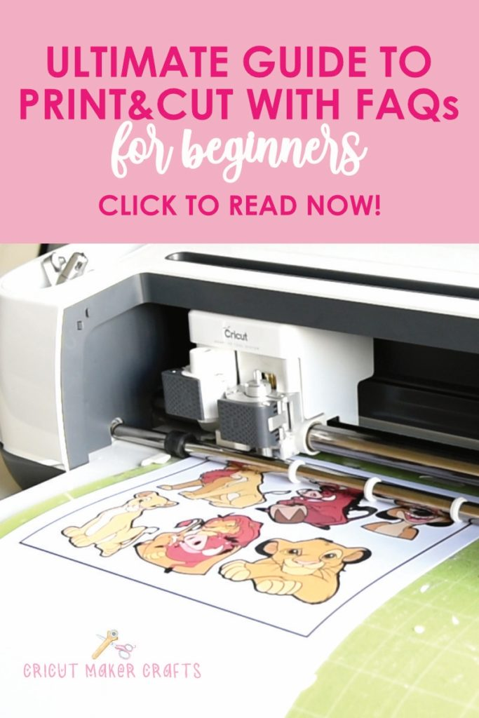 "In this post, you'll learn how to ""print then cut"" using Cricut Maker or Cricut Explore. Also, included are ""print then cut"" troubleshooting questions and what printer works best for this job."