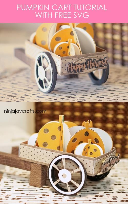 Free fall svg - pumpkin cart tutorial by cricut maker crafts