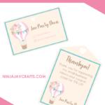 DIY Business Cards in Design Space (So Cute)