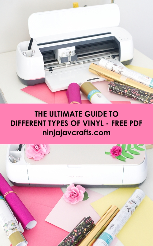 The ultimate guide to different types of vinyl for beginners. Find out the difference between heat transfer vinyl, permanent and adhesive vinyl.
