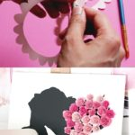How to Make Rolled Paper Flowers and Vinyl Decal Canvas Art