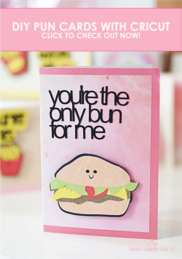 Learn to make these adorable food puns Valentine cards with your Cricut. A quick and easy Cricut papercraft.  valentine's day cricut ideas to sell | cricut valentine projects to sell
