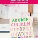 DIY Cricut Chipboard Puzzle - (Alphabets and Numbers)