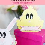 FREE Favor Box SVG - Bunny&Chick