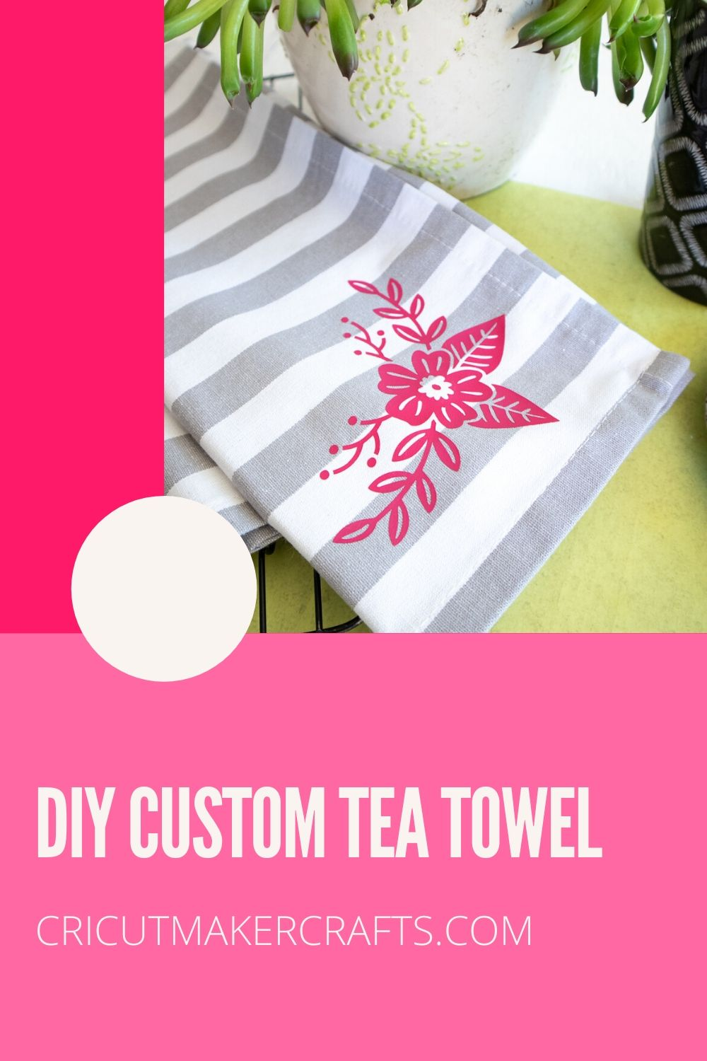 tea towel with iron-on vinyl