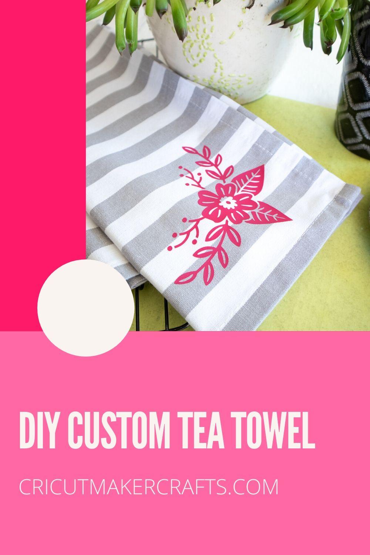 tea towel with iron-on vinyl