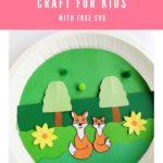 Paper Plate Fox Cricut Craft for Kids [FREE SVG]