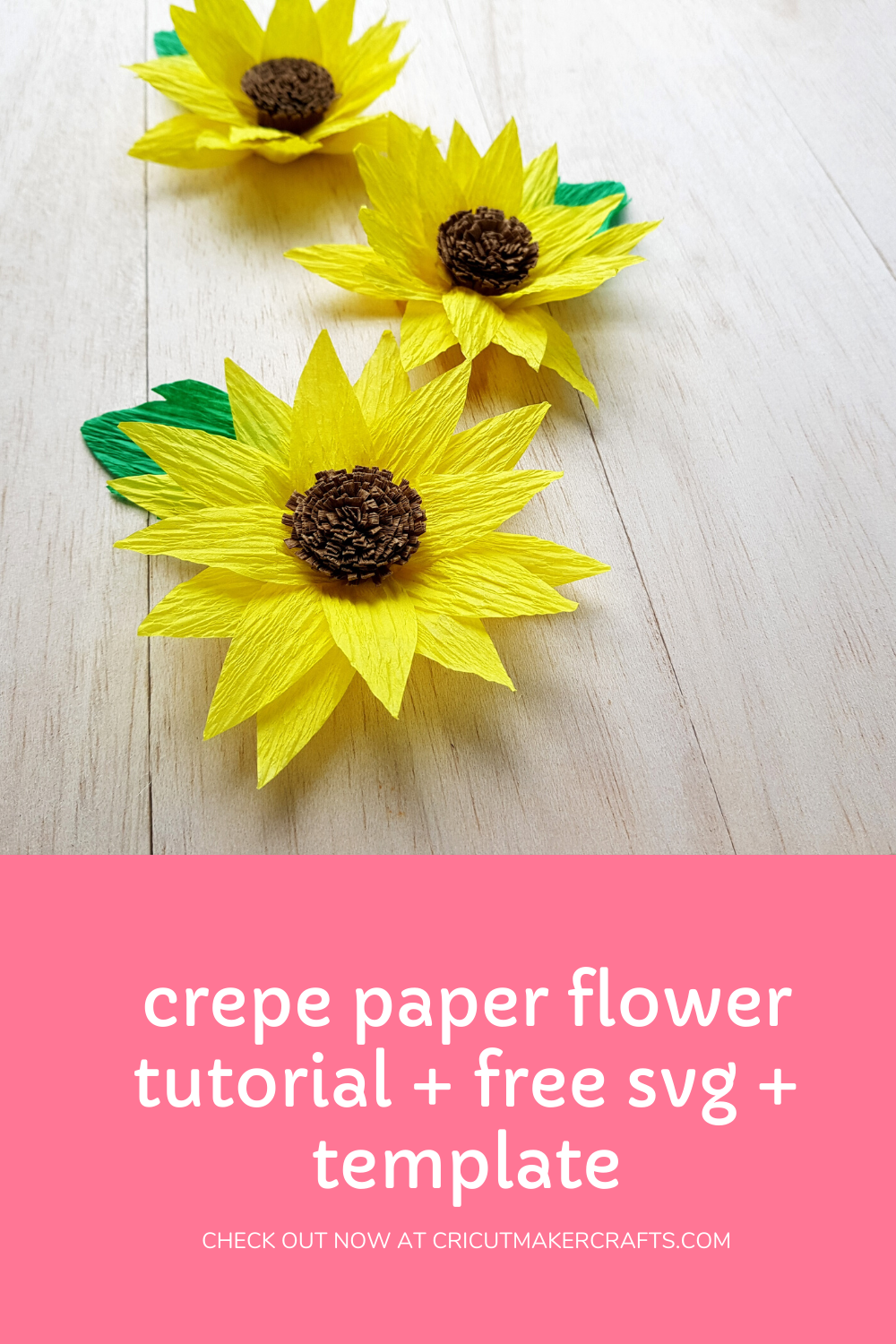 crepe paper sunflower
