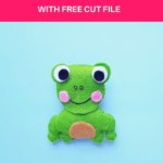 Cute Felt Frog Craft [Template+SVG Free]