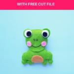 Cute Felt Frog Craft [Template+SVG Free]