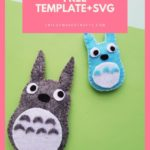 FREE Plush Totoro Template + Tutorial + SVG