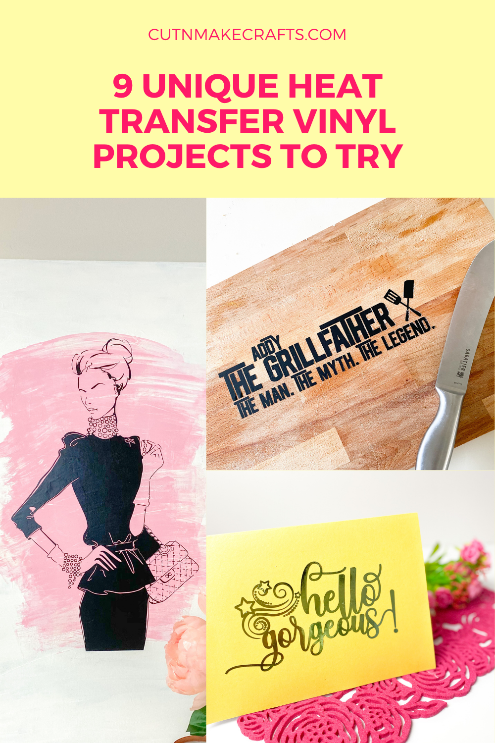 9 Unique Heat Transfer Vinyl Projects To Try Cut N Make Crafts
