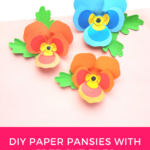 EASY and Free Paper Pansy Template + SVG