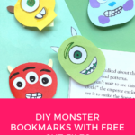 FREE Monster Bookmark Template&SVG