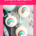 DIY Anthro Inspired Rainbow Ornaments - Cricut Joy