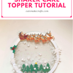 EASY Holiday Cake Topper Tutorial